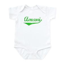 Amani Vintage (Green) Onesie