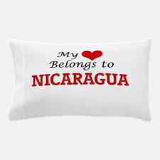 My Heart Belongs to Nicaragua Pillow Case