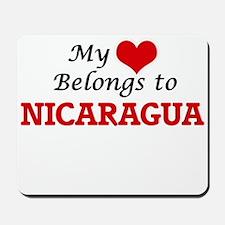 My Heart Belongs to Nicaragua Mousepad