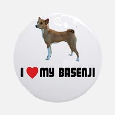I Love My Basenji Ornament (Round)