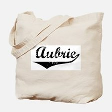 Aubrie Vintage (Black) Tote Bag