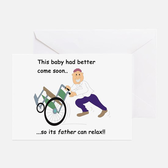 stressed father-to-be Greeting Cards (Pk of 10