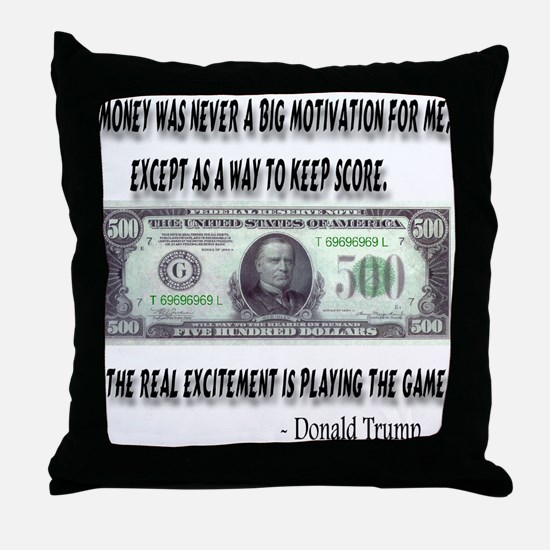 Playing The Game By Donald Tr Throw Pillow
