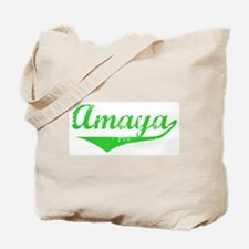 Amaya Vintage (Green) Tote Bag