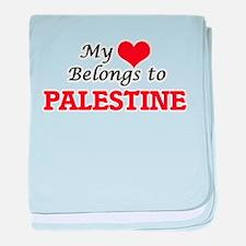My Heart Belongs to Palestine baby blanket