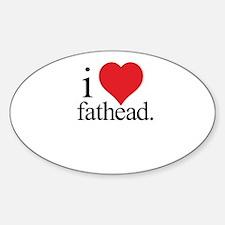 Anti Heart Fathead Oval Decal