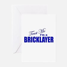Trust Me I'm a Bricklayer Greeting Cards (Pk of 10