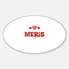 Meris Oval Decal