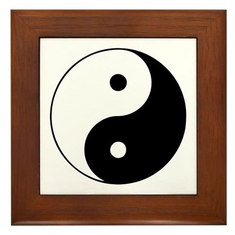 Yin and Yang Framed Tile
