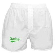 Amina Vintage (Green) Boxer Shorts