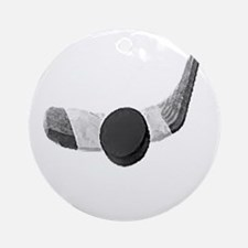 Stick & puck Ornament (Round)
