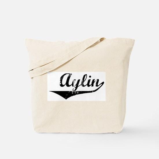 Aylin Vintage (Black) Tote Bag