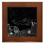 Neon Mermaid Framed Tile