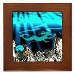 Blue Mermaid Framed Tile