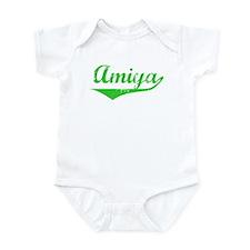 Amiya Vintage (Green) Infant Bodysuit