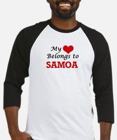 My Heart Belongs to Samoa Baseball Jersey