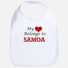 My Heart Belongs to Samoa Bib