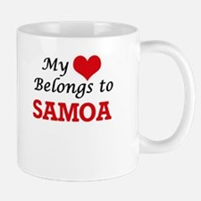 My Heart Belongs to Samoa Mugs