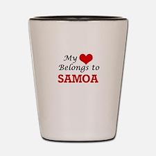 My Heart Belongs to Samoa Shot Glass