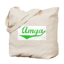 Amya Vintage (Green) Tote Bag