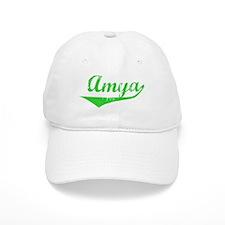 Amya Vintage (Green) Baseball Cap