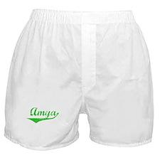 Amya Vintage (Green) Boxer Shorts