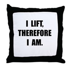 Cute Powerlifting Throw Pillow