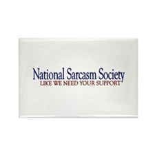National Sarcasm Society Rectangle Magnet