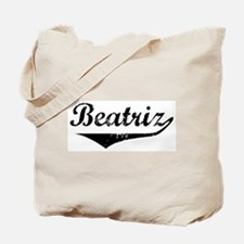 Beatriz Vintage (Black) Tote Bag