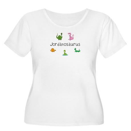 Jordanosaurus Women's Plus Size Scoop Neck T-Shir