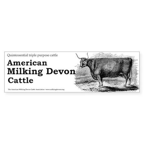 Milking Devon Bumper Sticker