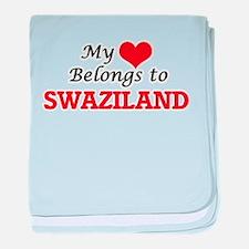 My Heart Belongs to Swaziland baby blanket