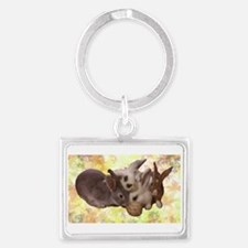 the buntastic Bunny Rabbit Landscape Keychain