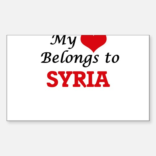 My Heart Belongs to Syria Decal