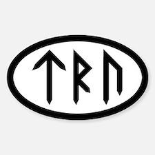 TRU Oval Bumper Stickers