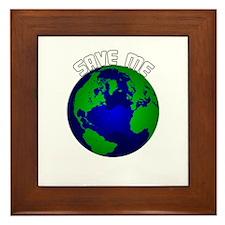 Save Me Framed Tile