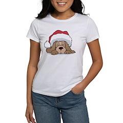 Santa Puppy Women's T-Shirt