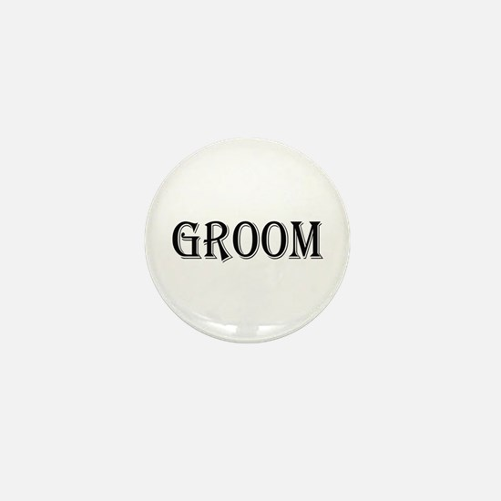 Groom Mini Button