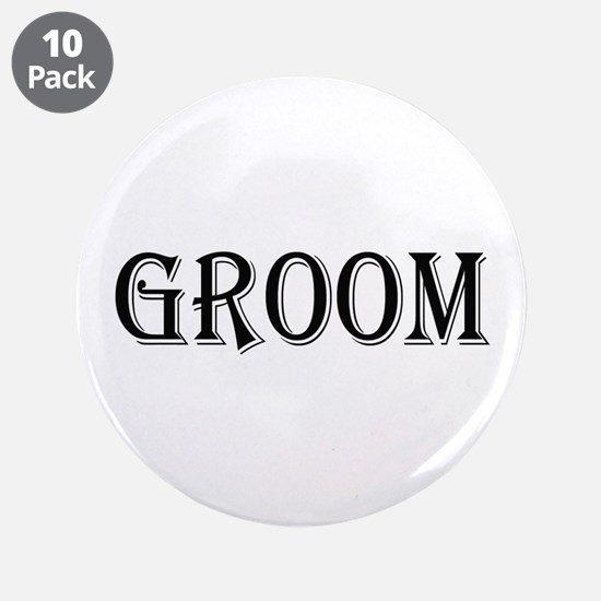 "Groom 3.5"" Button (10 pack)"
