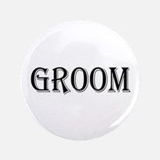 "Groom 3.5"" Button"