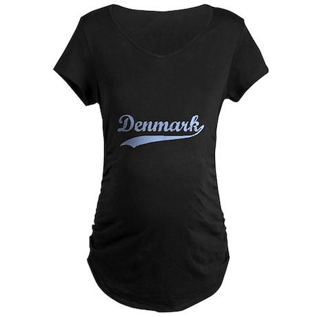 Vintage Denmark Retro Maternity Dark T-Shirt