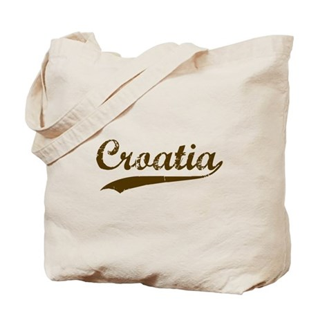 Vintage Croatia Retro Tote Bag