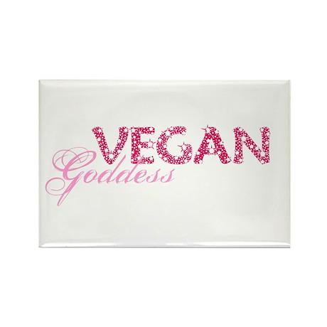 Vegan Goddess Rectangle Magnet