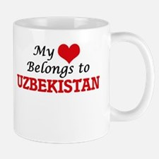 My Heart Belongs to Uzbekistan Mugs