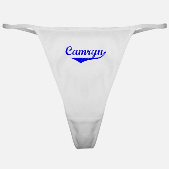Camryn Vintage (Blue) Classic Thong