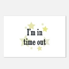 I'm in time out Postcards (Package of 8)