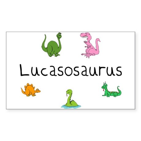 Lucasosaurus Rectangle Sticker