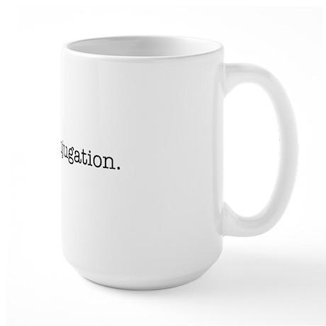 I love conjugation Large Mug