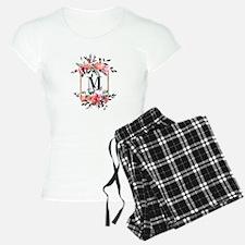 Feminine Floral Monogram Pajamas