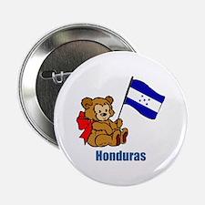 "Honduras Teddy Bear 2.25"" Button (10 pack)"
